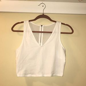 White cropped tank top size small